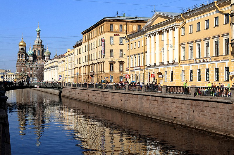 Jesuits' House on the Griboedov Canal, built by Luigi Rusca in Saint-Petersburg, Russia
