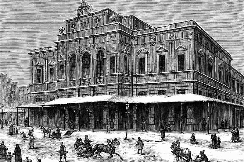 The Mariinsky Theatre ca 1859 in St Petersburg, Russia