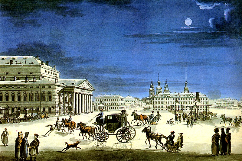 The Saint Petersburg Imperial Bolshoi Kamenny Theatre, ca 1810, Russia