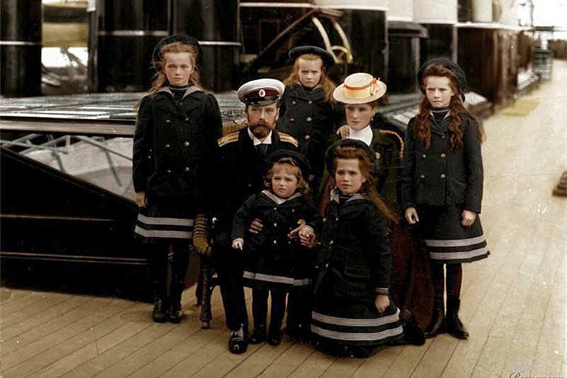 The Russian Imperial family aboard the Imperial Yacht Standart c.1906