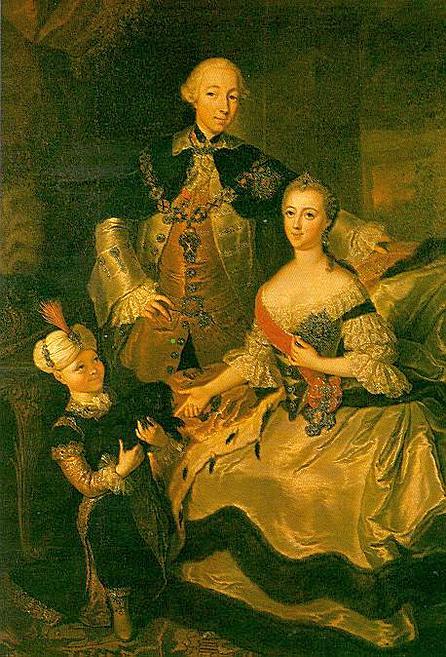Grand duke peter fedorovich grand duchess catherine alexeyevna and