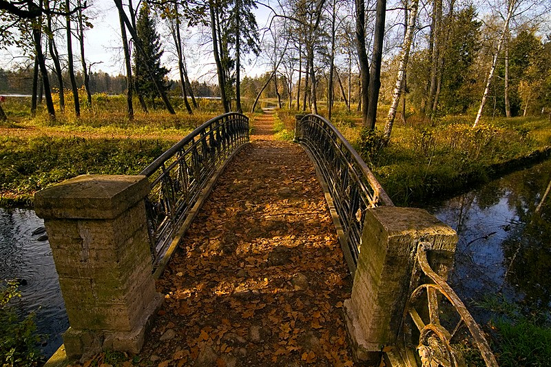 Autumn in the park at Gatchina, royal estate south of Saint-Petersburg, Russia