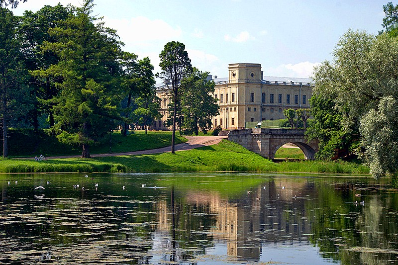 White Lake in the park at Gatchina, royal estate south of St Petersburg, Russia