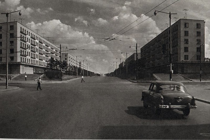 "New ""Khrushchev"" apartment buildings at Avtovo, Leningrad, Russia"