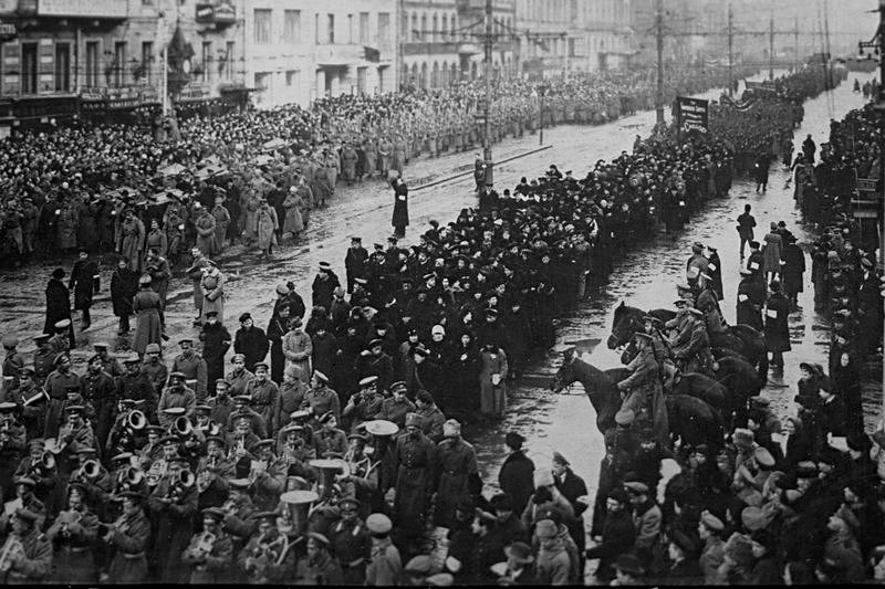 Public funeral of the fallen in the fight for freedom, Petrograd, Russia