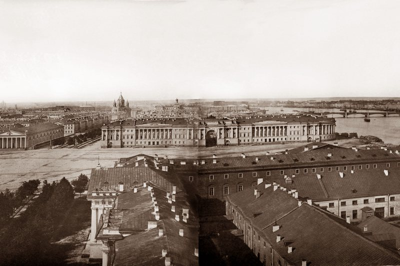 St. Petersburg. Panorama in 13 frames, taken from the tower of the Admiralty (Part 5) in St. Petersburg, Russia