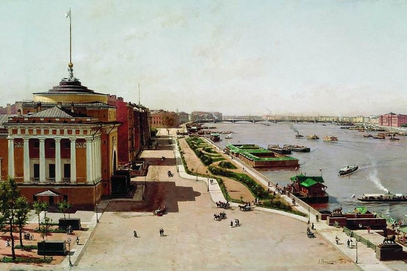 View of the Neva from the Winter Palace in St. Petersburg, Russia