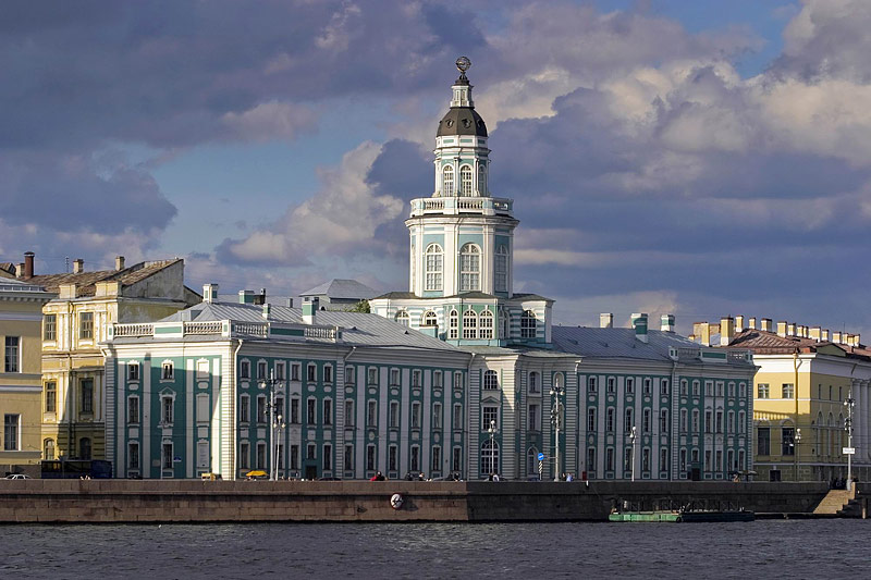The Kunstkammer - the first building of the Academy of Sciences in St. Petersburg, Russia.