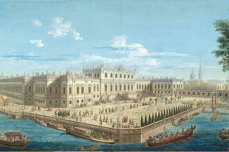 View of the Summer Palace of Empress Elizabeth
