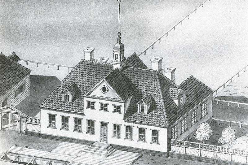 The small Winter Mansion of Peter the Great in 1708