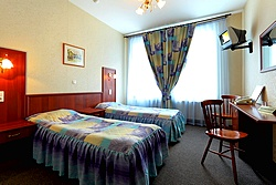 Twin Room at the AlexanderPlatz Hotel in St. Petersburg