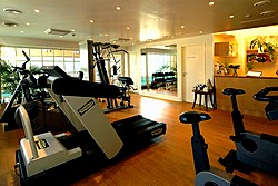 Gym at the Angleterre Hotel in St. Petersburg