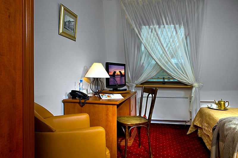 Standard Single Room at the Brothers Karamazov Hotel in St. Petersburg