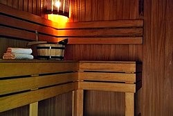 Sauna at the Dostoevsky Hotel in St. Petersburg