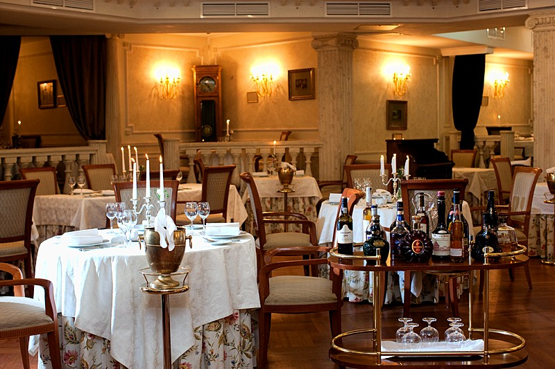 Fyodor Dostoevsky Restaurant at the Golden Garden Boutique Hotel in St. Petersburg