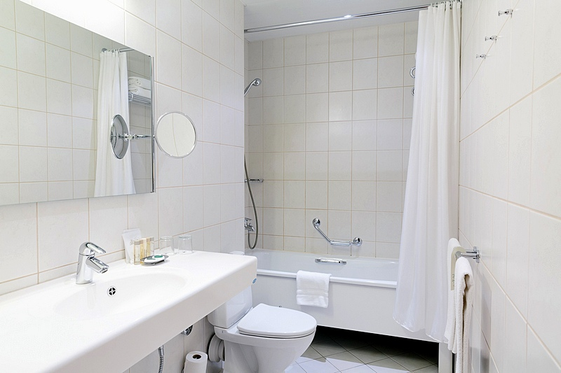 Bathroom of the Standard Double Room at the Grand Hotel Emerald in St. Petersburg