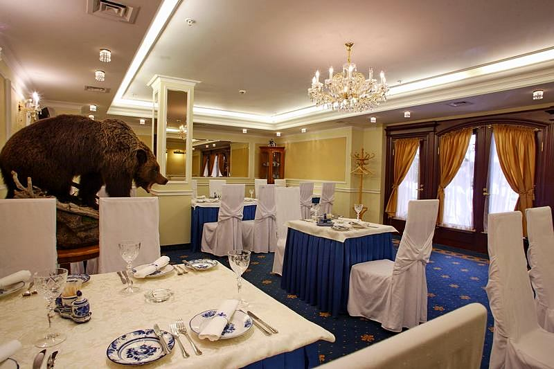 Gzhel Restaurant at the Grand Hotel Emerald in St. Petersburg