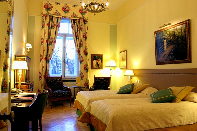 Classic Historical Twin Room at the Belmond Grand Hotel Europe in St. Petersburg