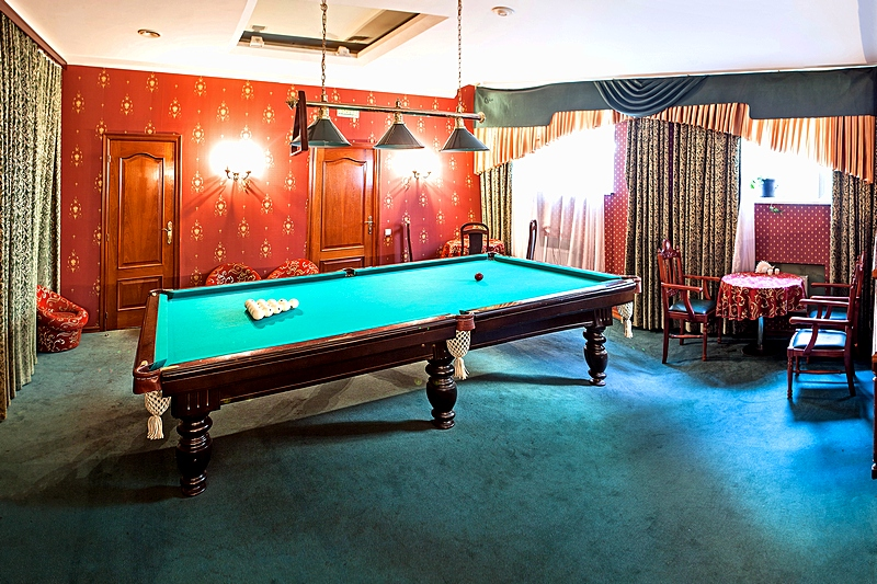 Billiard Bar at the Guyot Hotel in St. Petersburg