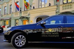 Taxi at the Helvetia Hotel in St. Petersburg