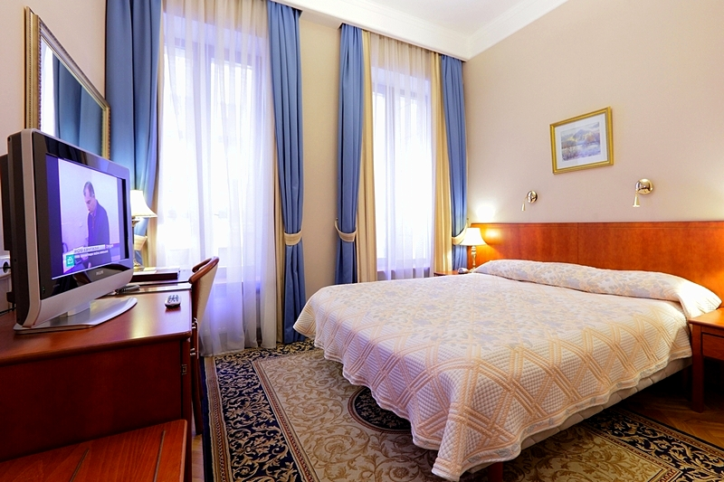 Compact Double Room (Economy Double Room) at the Helvetia Hotel in St. Petersburg