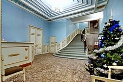 Lobby at the History Hotel on English Embankment in St. Petersburg