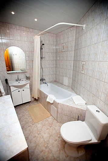Bathroom of the Suite at the History Hotel on Kanal Griboedova in St. Petersburg