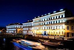 Facade Night View at the Kempinski Hotel Moika 22 in St. Petersburg