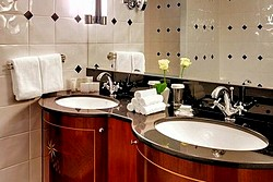 Bathroom of the Deluxe Suite at the Kempinski Hotel Moika 22 in St. Petersburg
