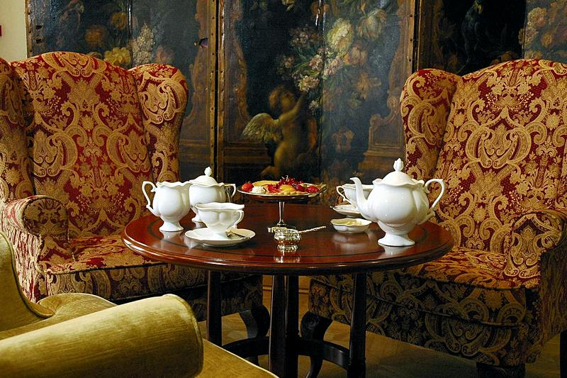 Tea rooms at the Kempinski Hotel Moika 22 in St. Petersburg