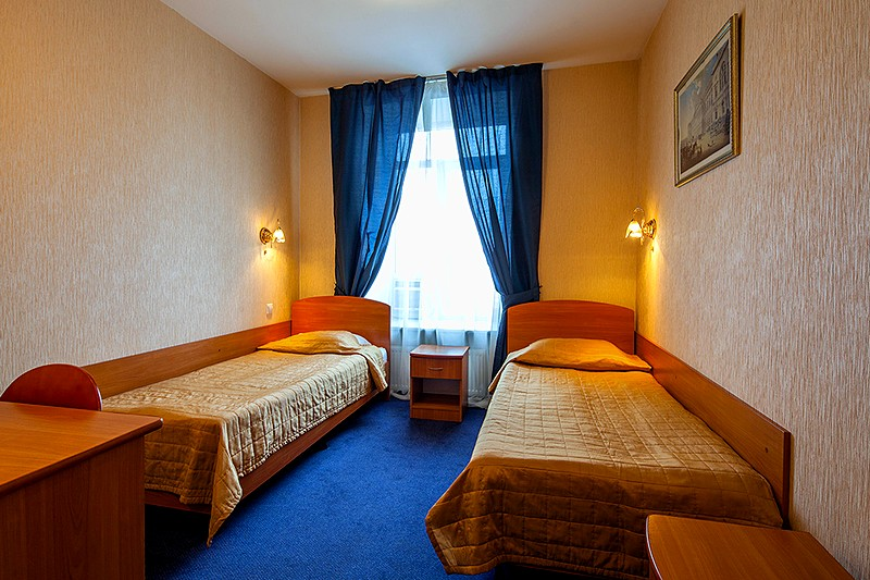 Standard Twin Room at the Nevsky Express Hotel in St. Petersburg
