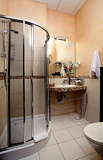 Bathroom of the Classic Room at the Nevsky Forum Hotel in St. Petersburg