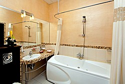 Bathroom of the Suite at the Nevsky Forum Hotel in St. Petersburg