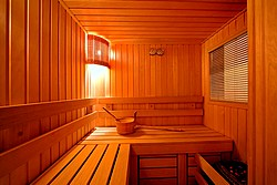 Sauna of the Forum Grand Suite at the Nevsky Forum Hotel in St. Petersburg