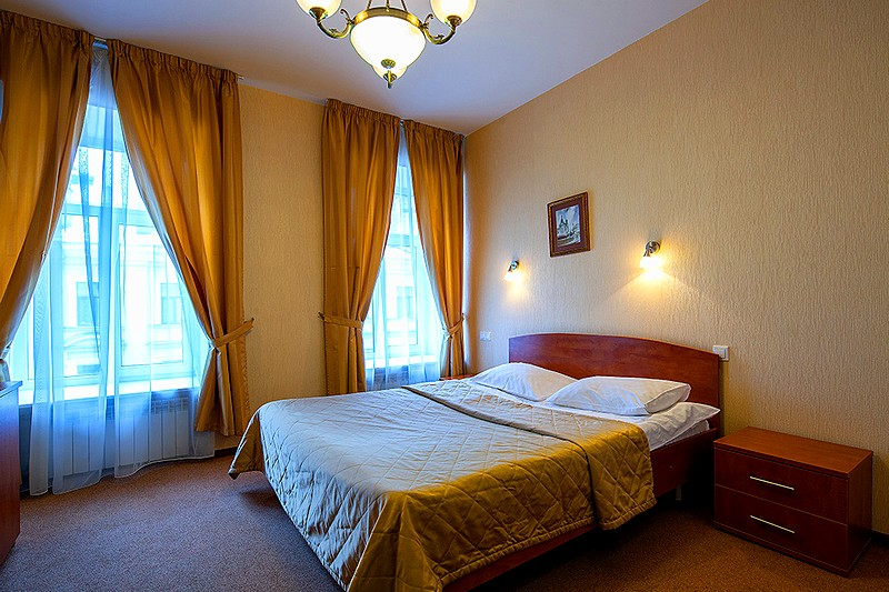 Standard Double Room at the Nevsky Hotel Aster in St. Petersburg