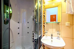 Bathroom of the Standard Double Room at the Nevsky Hotel Grand in St. Petersburg