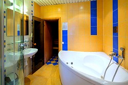 Bathroom of the Suite at the Nevsky Hotel Grand in St. Petersburg