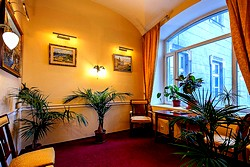 Hall On The 2nd Floor at the Nevsky Hotel Moyka 5 in St. Petersburg