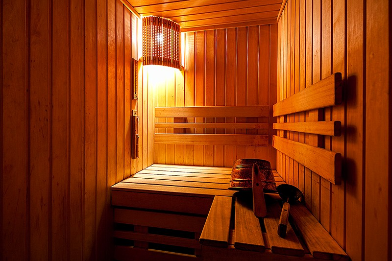 Sauna of the Superior Room at the Nevsky Hotel Moyka 5 in St. Petersburg