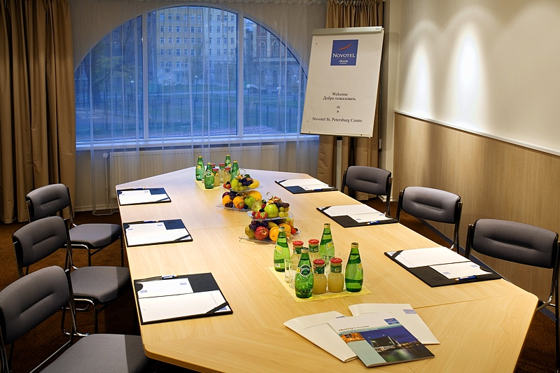 Rome Meeting Room at the Novotel St. Petersburg Centre Hotel in St. Petersburg