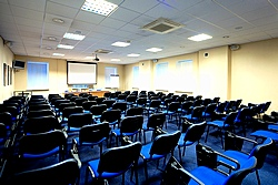 Blue Conference Hall at the Oktiabrskaya Hotel in St. Petersburg