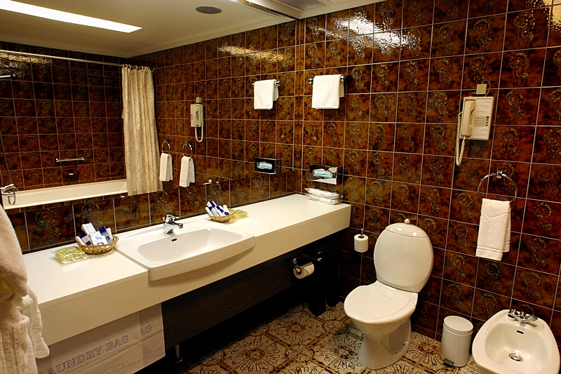 Bathroom of the Duplex Suite at the Park Inn Pribaltiyskaya Hotel in St. Petersburg