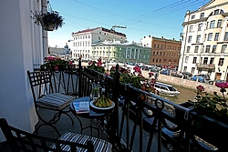 Comfort Double Room w/Balcony at the Pushka Inn Hotel in St. Petersburg