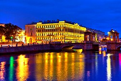 Night View at the Rossi Boutique Hotel in St. Petersburg