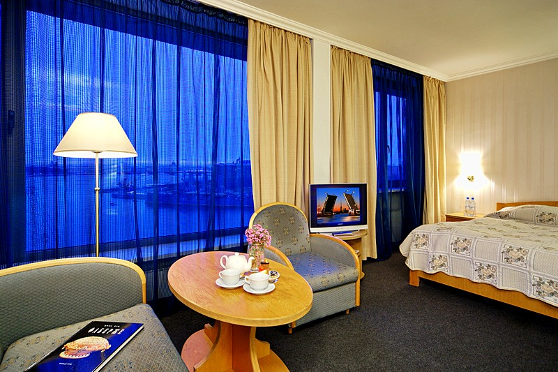 Superior Double Room with river view  at the Saint Petersburg Hotel in St. Petersburg