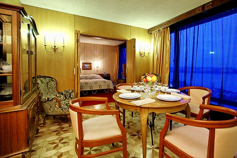Deluxe Family Room with river view at the Saint Petersburg Hotel in St. Petersburg