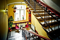 Staircase at the Shelfort Hotel in St. Petersburg