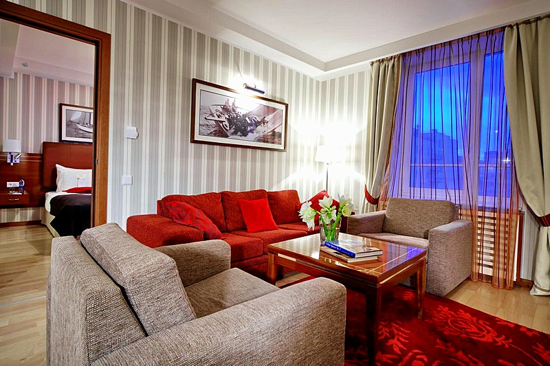 Suite at the Solo Sokos Hotel Palace Bridge in St. Petersburg