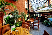 Garden Cafe at the Solo Sokos Hotel Palace Bridge in St. Petersburg