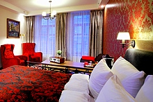 Suite at the Solo Sokos Hotel Vasilievsky in St. Petersburg